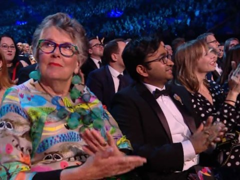 Prue Leith gives Paul O'Grady 'side-eye' as he beats Bake Off at National Television Awards