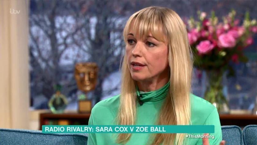 Zoe Ball told Sara Cox she had breakfast gig on Radio 2 before taking job herself