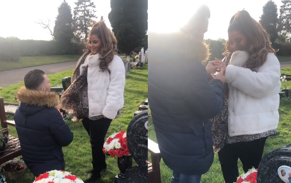 The X Factor star Scarlett Lee proposed to in graveyard so late grandparents could be there