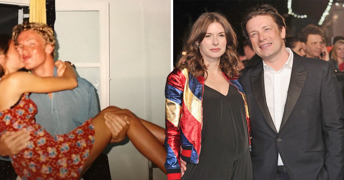 Jamie Oliver throwback leaves fans scratching their heads as chef poses with wife Jools