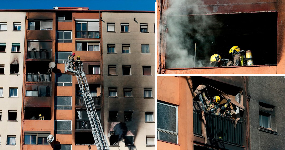 Three dead and several injured in flat block fire near Barcelona