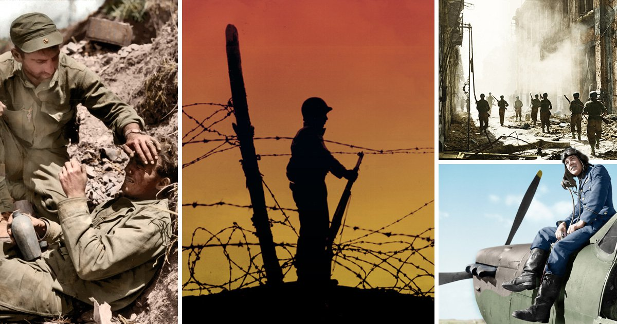 Stunning colour images bring brutal reality of WWII to life