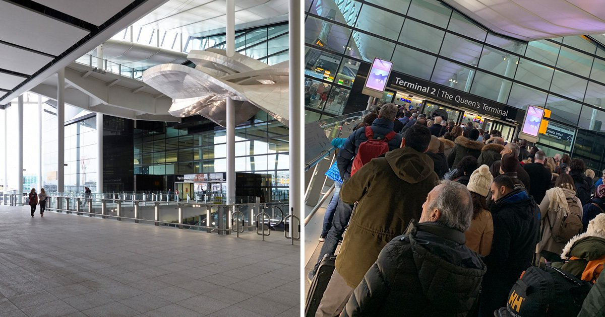 Passengers describe 'chaos' at Heathrow Airport after suspicious bag investigated