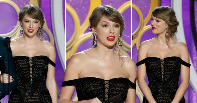 Taylor Swift slips into the GGs