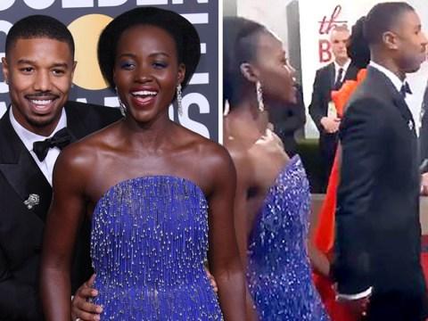 Michael B Jordan and Lupita Nyong'o hold hands and 'kiss' at Golden Globes amid romance rumours