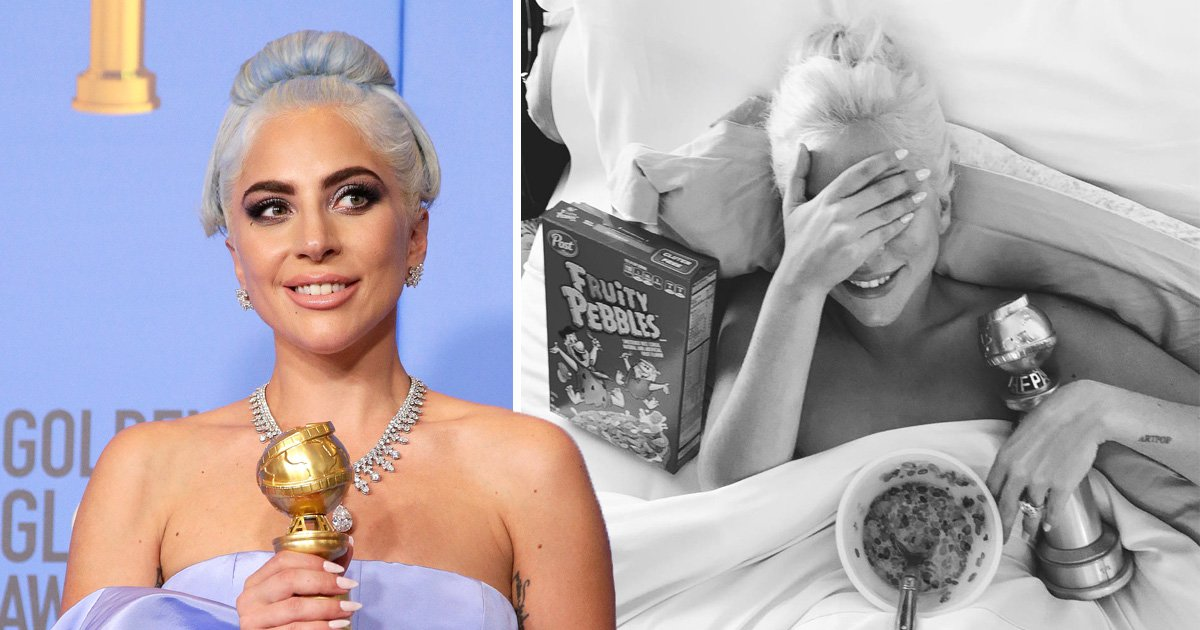 Lady Gaga's morning-after snap proves she celebrated Golden Globes win pretty well