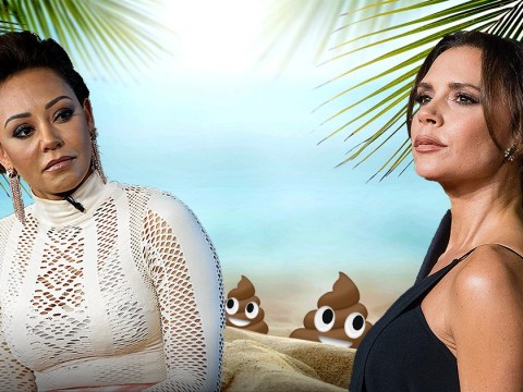 Mel B and Victoria Beckham's feud is all down to a holiday romance enjoying a poo on the beach