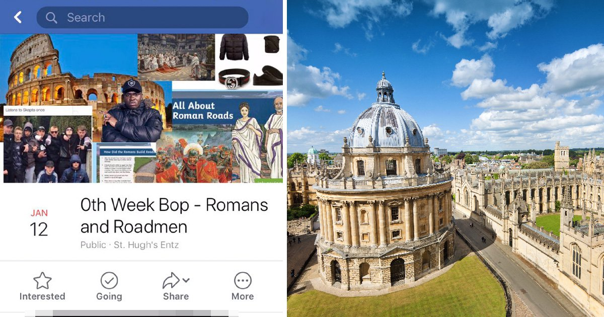 Oxford Uni student night forced to apologise after advertising 'Romans and Roadmen' night
