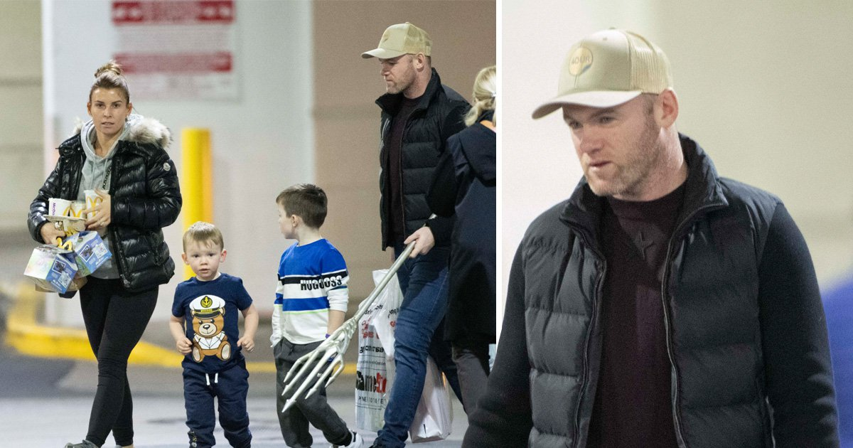 Wayne and Coleen Rooney are all about the happy meals as they make first appearance following airport arrest