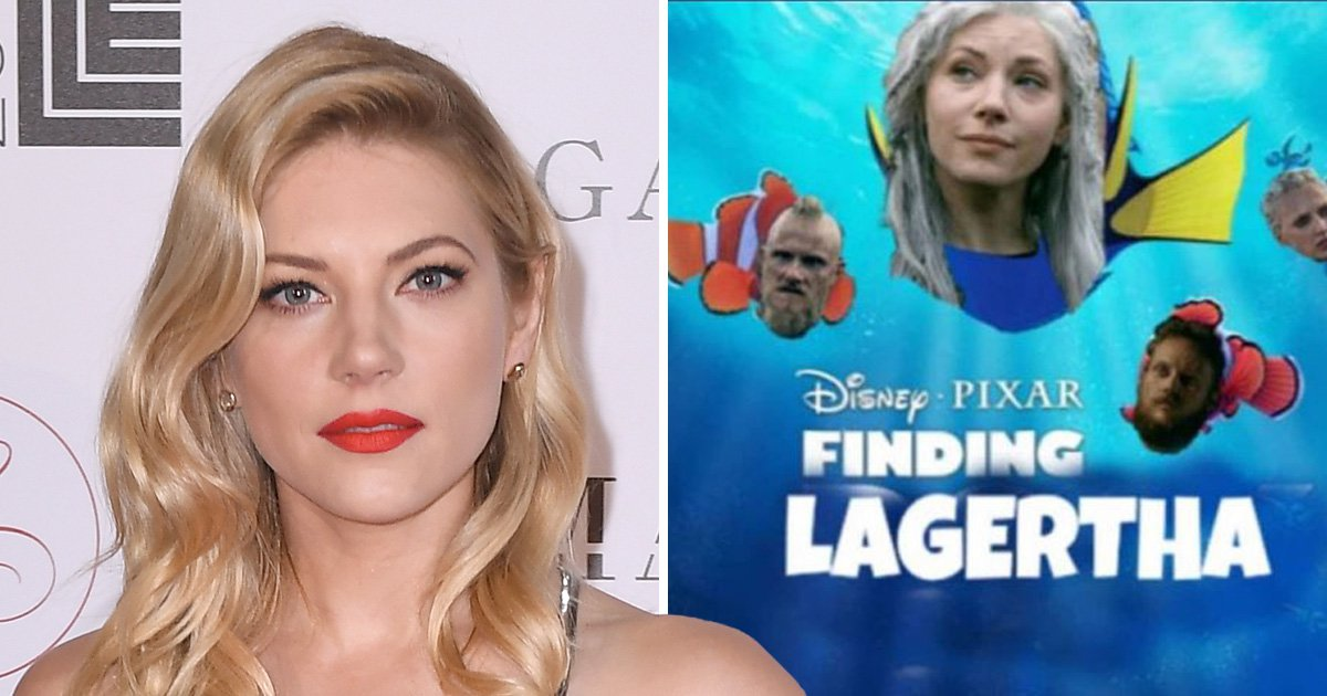 Vikings star Katheryn Winnick teases Lagertha return with the single best meme
