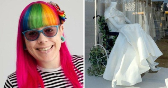 6bf33ae127 Disabled woman praises wedding shop for its window display of mannequin in  a wheelchair