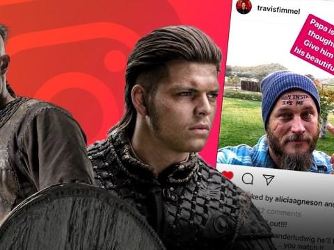Vikings star Alex Høgh Andersen shook as 'papa' Travis Fimmel joins Instagram