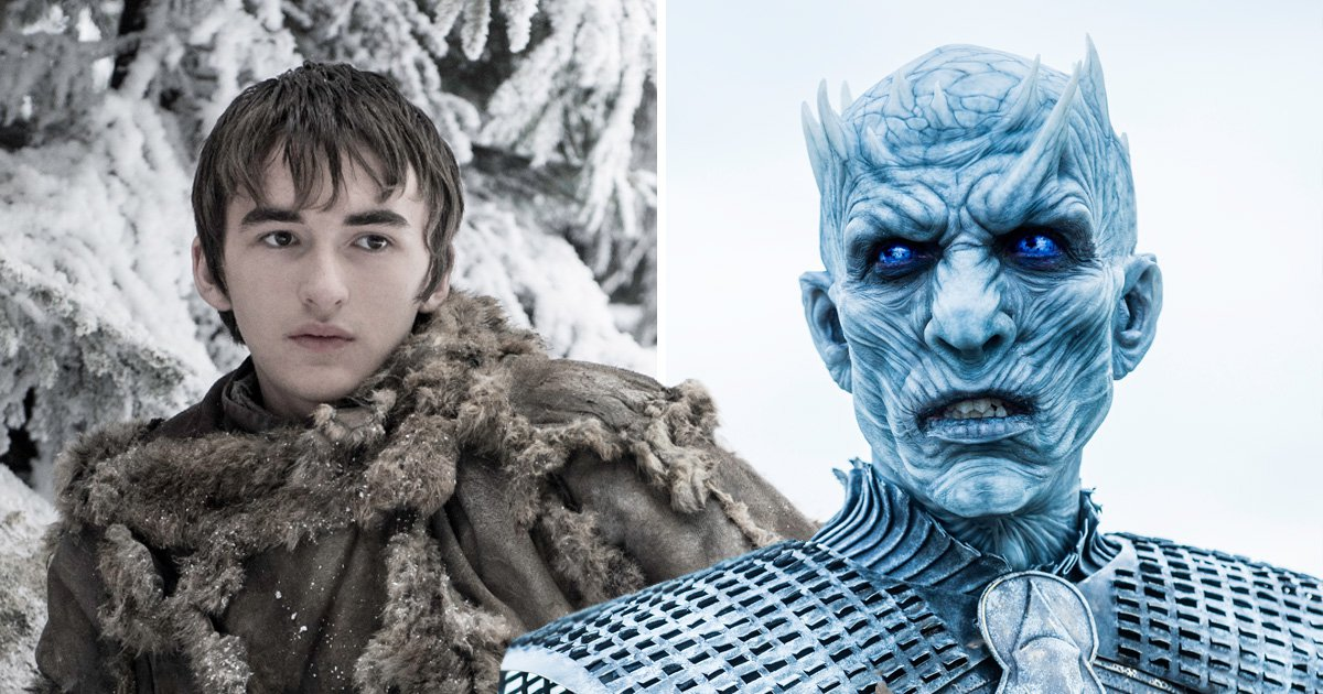 Game of Thrones Bran Stark next to an image of the The Night King