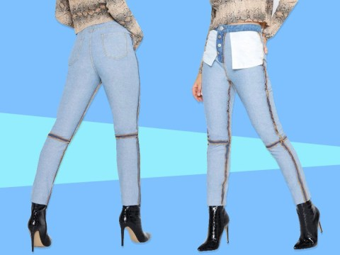 Boohoo is selling 'reverse jeans' and people are not fans