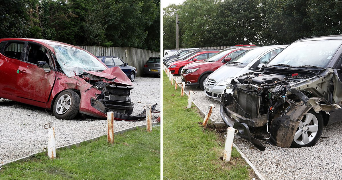 Drunk driver jailed for killing girlfriend when he smashed into 22 parked cars