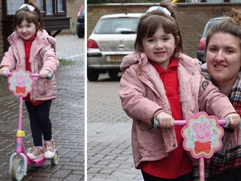 Bus driver tells girl, 4, she can't get on because Peppa Pig scooter is a 'weapon'