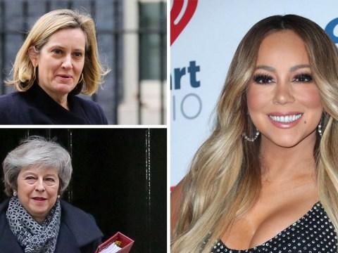 Amber Rudd likes tweet saying she should tell May to 'stop acting like Mariah Carey'