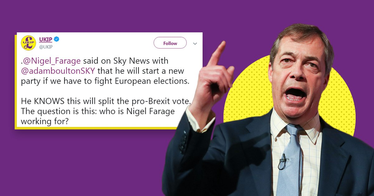 Ukip attacks ex-leader Nigel Farage after he suggests he may start a new party