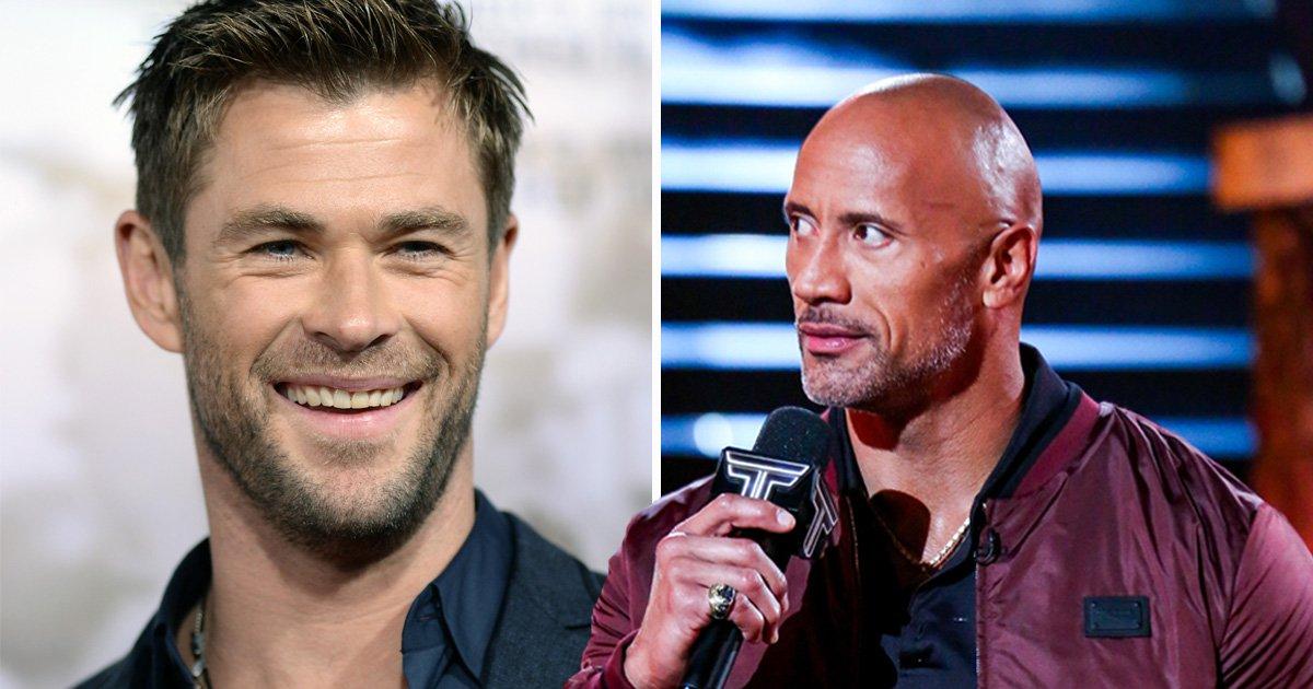 Chris Hemsworth puts Dwayne 'The Rock' Johnson in the corner in Dirty Dancing meme