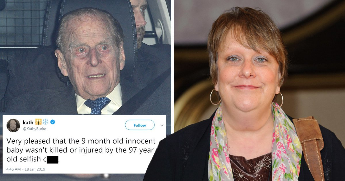 What did Kathy Burke tweet about Prince Philip?