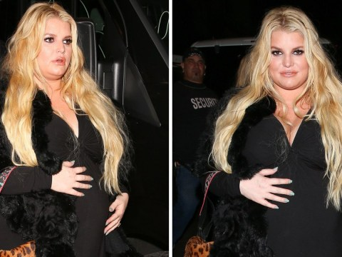 Jessica Simpson gets glammed up for night out with husband despite being weeks away from giving birth