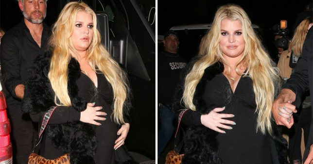 Jessica Simpson on night out