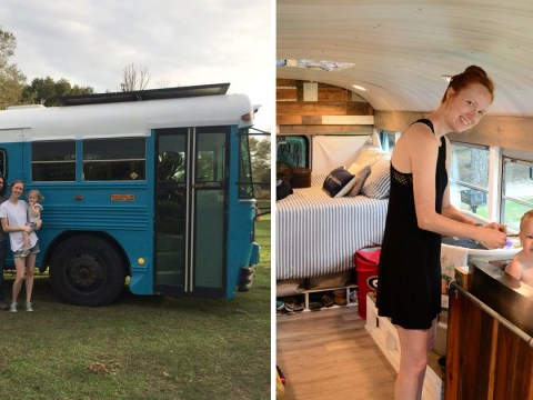 Family sells four-bedroom home to live in a renovated school bus and travel the country