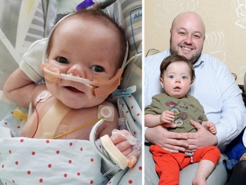Miracle baby boy survived 25 heart attacks in one day