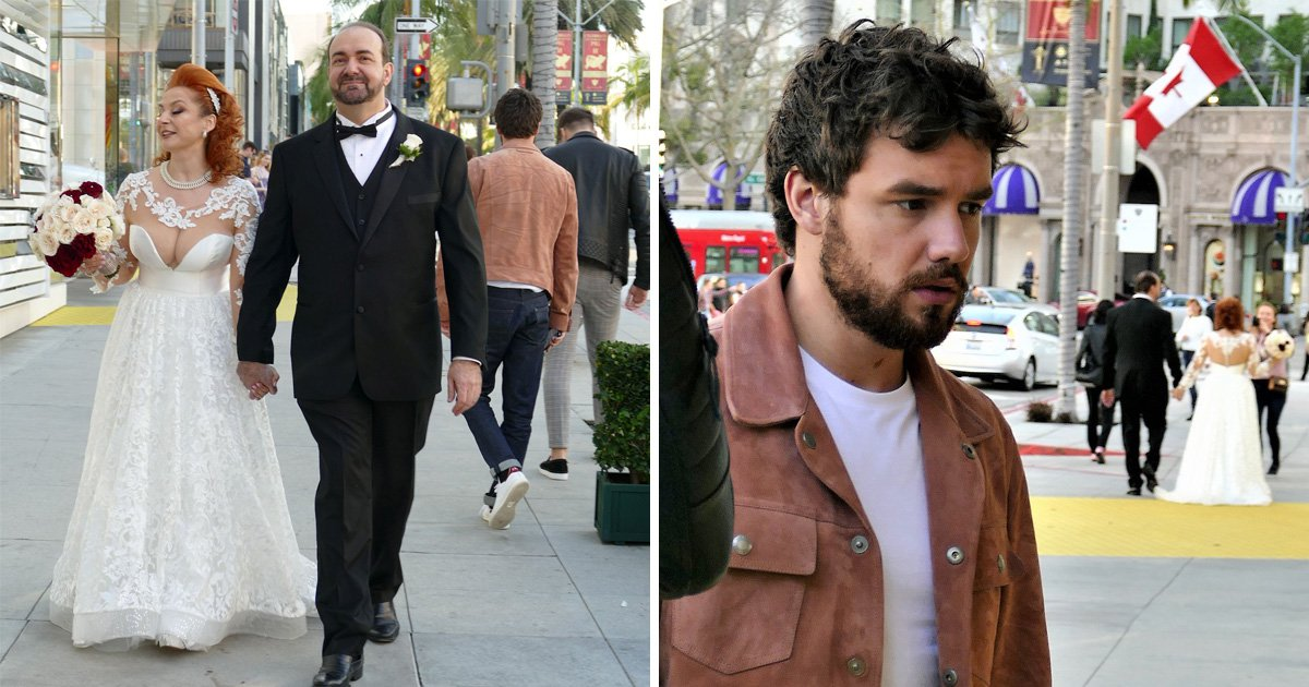 Liam Payne completely blanks newlyweds as he photobombs wedding