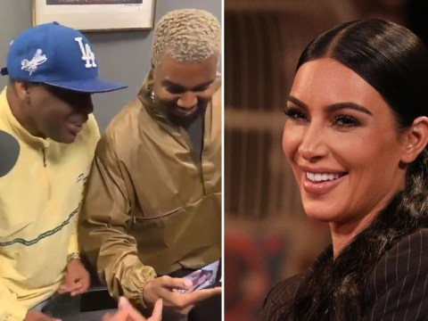 Kim Kardashian hails 112 serenade 'one of the best days of her life' as Kanye West proudly grins away