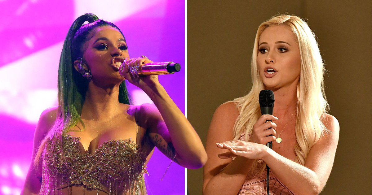Cardi B threatens to 'dog walk' Tomi Lahren in Twitter spat over government shutdown