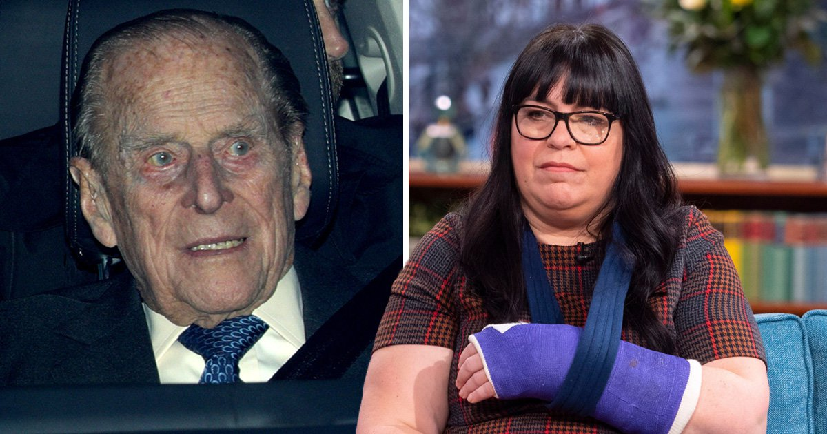 Woman who broke wrist in Prince Philip crash says he can't have been dazzled by sun