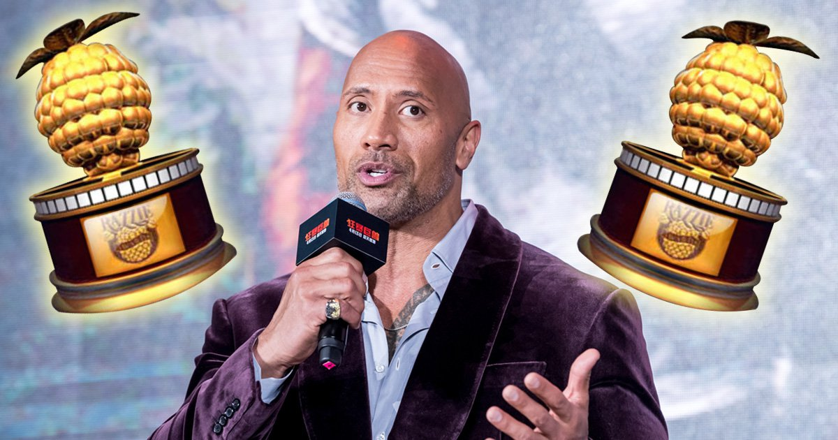 Dwayne The Rock Johnson escapes razzies this year as nominations get announced
