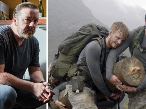 Ricky Gervais nearly crying 'a little bit' during SAS: Who Dares Wins is all of us