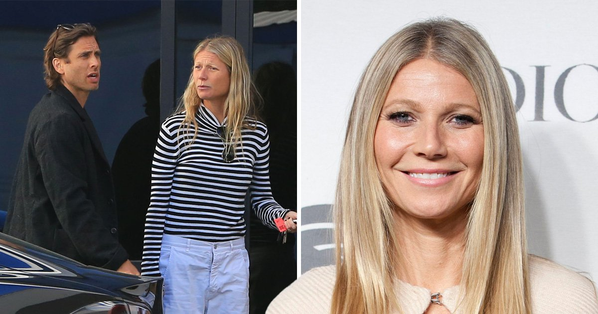 Gwyneth Paltrow and new husband Brad Falchuk arrive home on a private jet after weekend away in Mexico