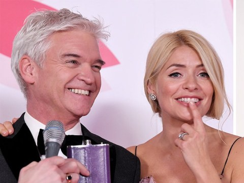 Phillip Schofield and Holly Willoughby celebrate This Morning win early as they shot tequila at National Television Awards