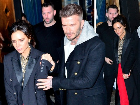 Victoria and David Beckham hold hands on romantic date night after slamming 'frustrating' divorce rumours