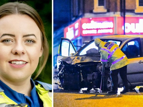 Pictured: PCSO killed in crash after car being chased by colleagues smashed into her