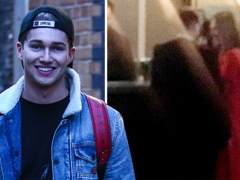 AJ Pritchard is all smiles the morning after night he 'snogged Caroline Flack at NTAs'