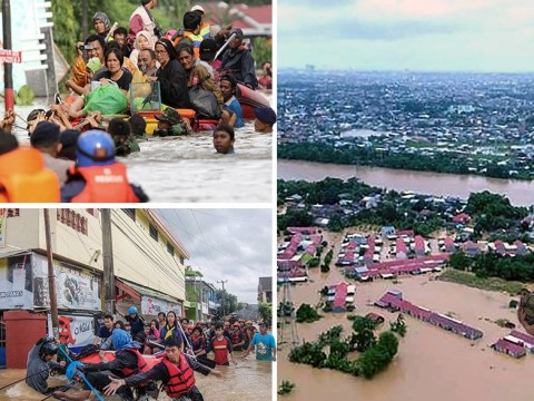 Dam overflows and kills at least 30 as thousands flee homes in Indonesia