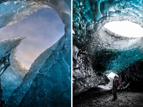 Stunning pictures take you inside Iceland's rarely seen glacier caves