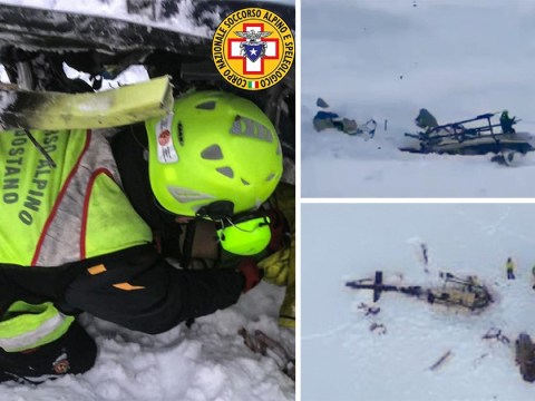Plane and helicopter collide over Italian ski resort leaving five dead
