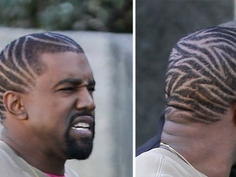 Kanye West debuts zebra-striped haircut as The Game describes graphic sex act with Kim Kardashian