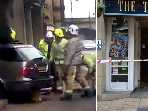 Drinkers surprised to see car crash through front door of Wetherspoons
