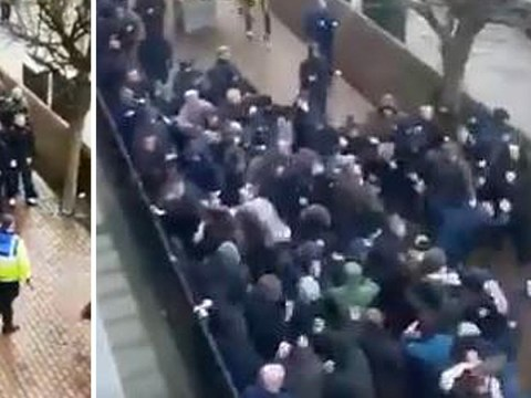 Man slashed in face as fight breaks out between Millwall and Everton fans