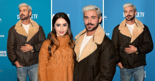 Very blonde Zac Efron at Sundance with Lily Collins