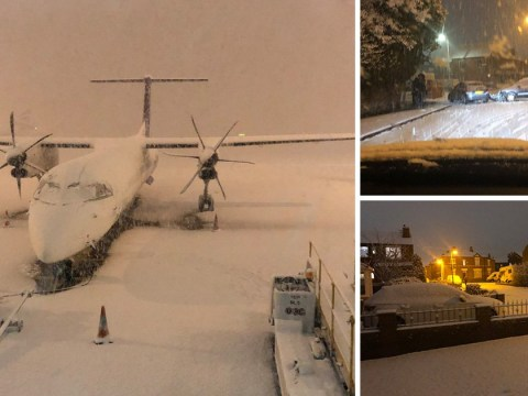 Manchester Airport runways closed, schools shut and roads gridlocked after snow
