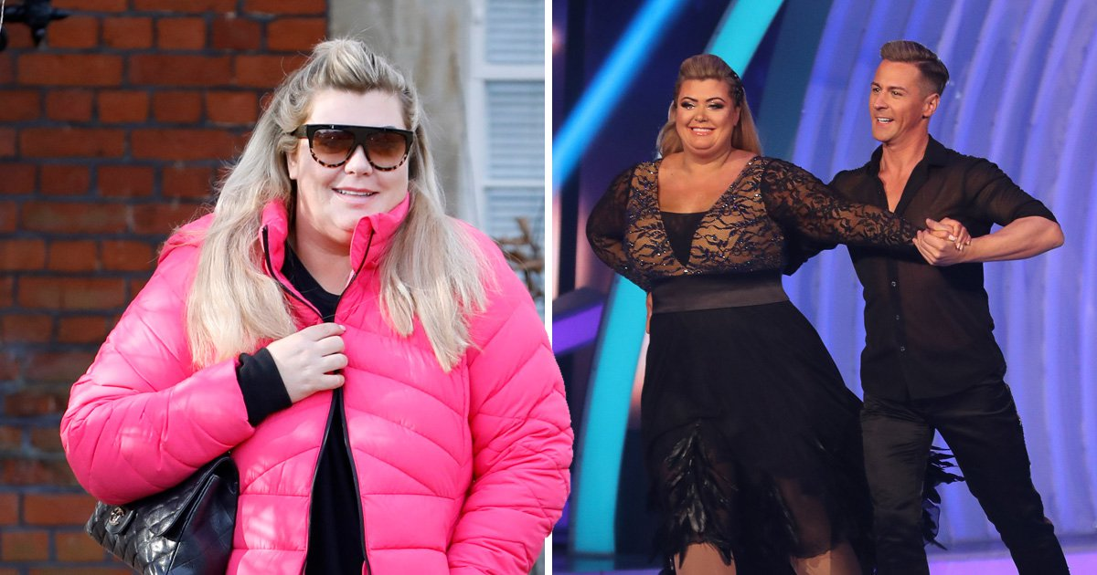 Gemma Collins is all smiles as she recovers from shock Dancing On Ice fall