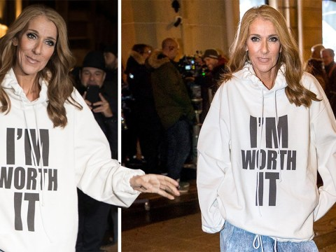 Celine Dion is doing the absolute most as she proclaims 'I'm Worth It' at photo shoot