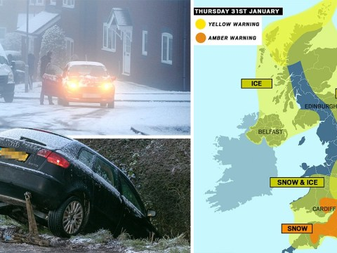 Met Office issues risk to life amber weather warning for snow